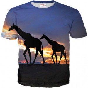 ŻARAFY Koszulka T-Shirt Full Print 3D