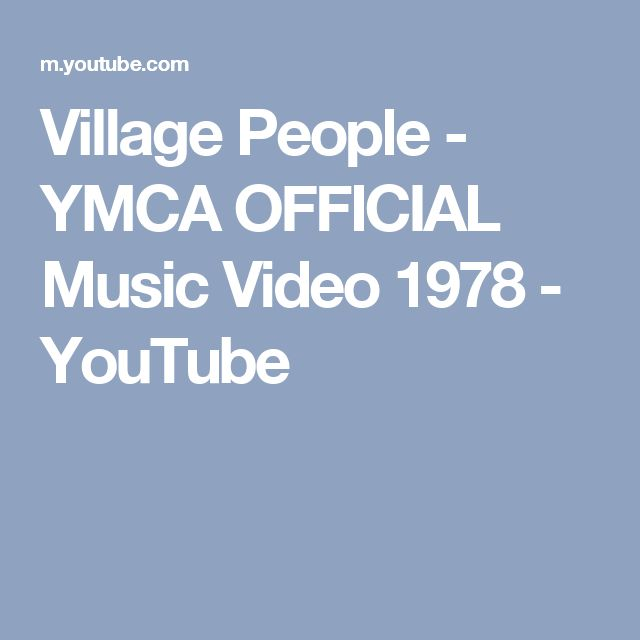 Village People - YMCA OFFICIAL Music Video 1978 - YouTube