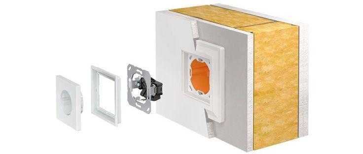 ls-zero-montaje en pladur, mecanismo enrasado.  mecanismos enrasados JUNG LS ZERO #knx #light #mecanismos #interruptores