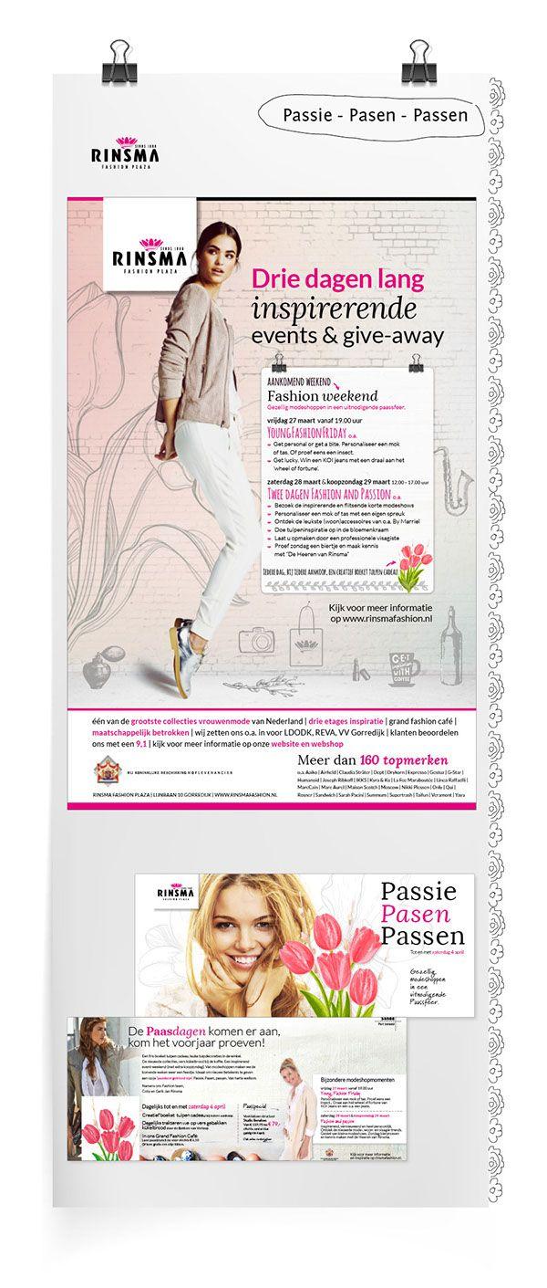 Offline communicatie Rinsma Fashion Plaza on Behance