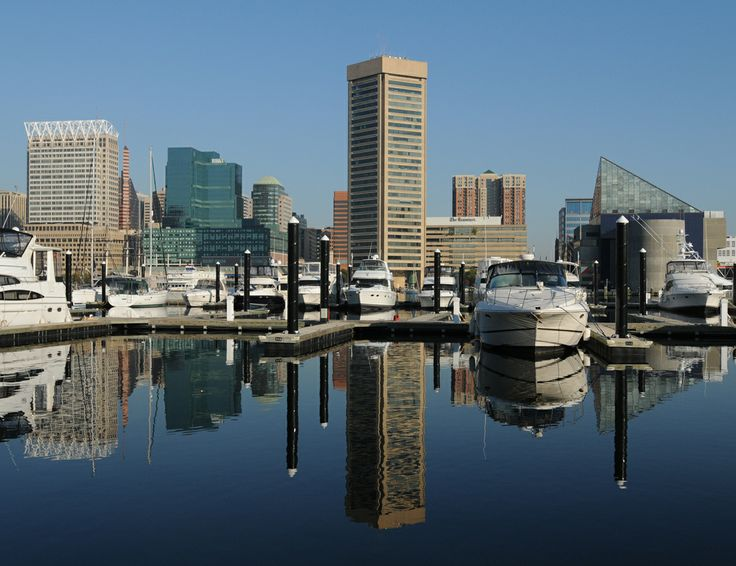 Baltimore's famous Inner Harbor and the Central Business ...