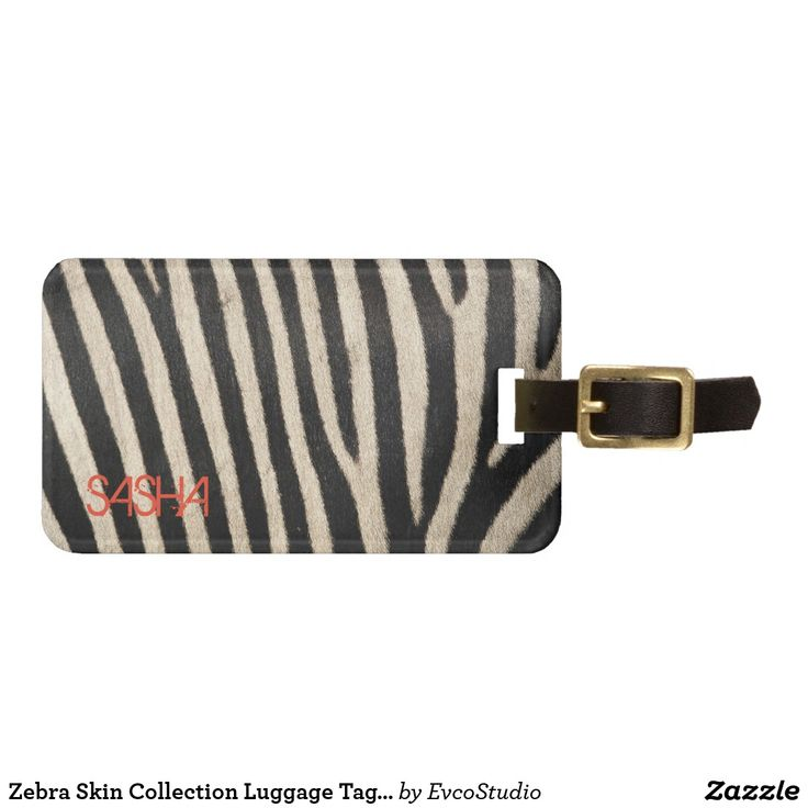 Zebra Skin Collection Luggage Tag - Personalised