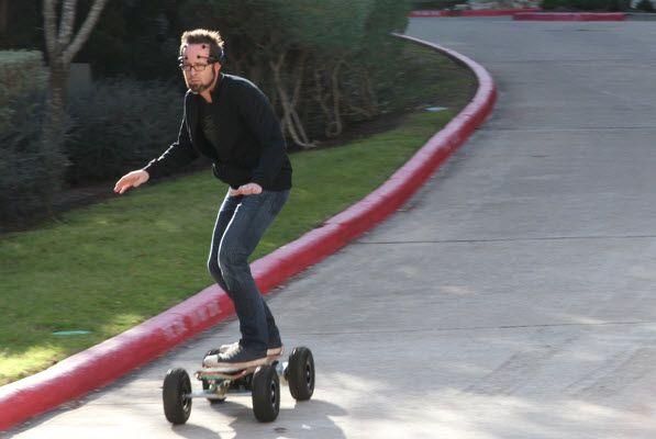 Brainwave-controlled skateboard...