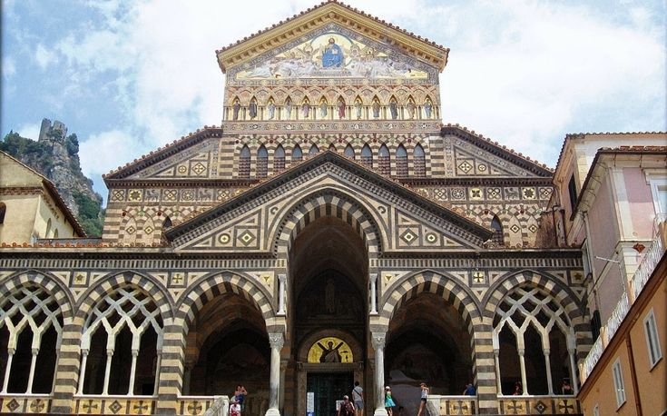 #Amalfi #Cathedral: with its Arab-Norman Romanesque architectural style!