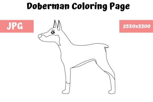 Doberman Coloring Page For Kids Graphic By Mybeautifulfiles Creative Fabrica