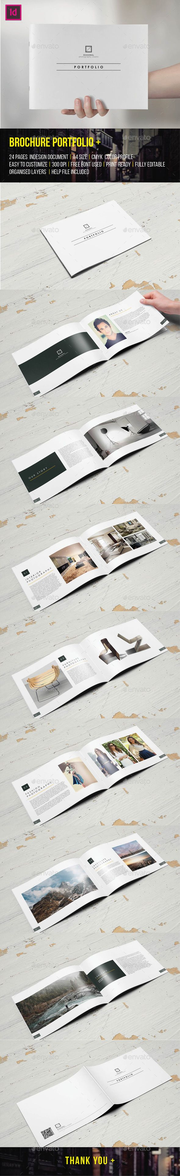 Brochure Portfolio 24 Pages  — InDesign Template #architecture #designer…