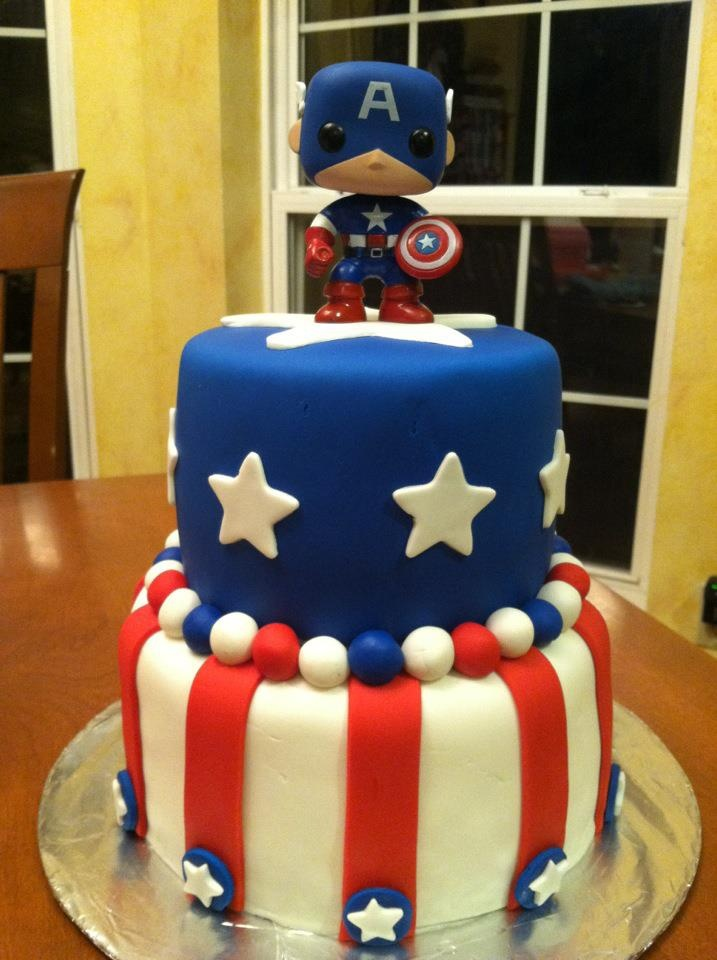 Captain America Cake!! I'm thinking for my birthday(: lol