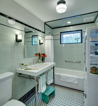 Vintage apothecary bathroom - craftsman - Bathroom - New York - Tracey Stephens Interior Design Inc