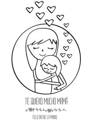 Tarjeta del Día de la Madre para colorear | Tarjetas | Pinterest ...