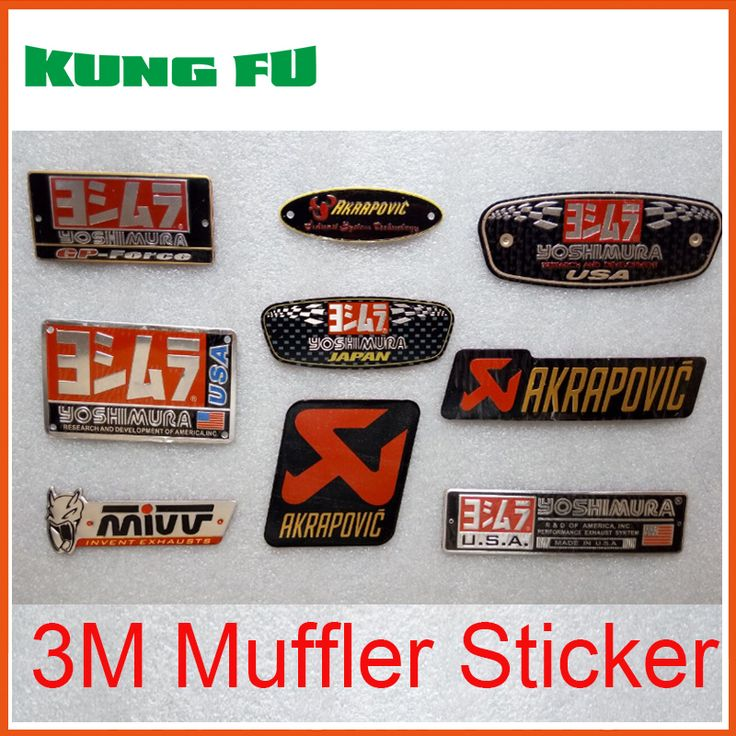 auto Akrapovic Exhaust Muffler Decal Waterproof Car 3M yoshimura Sticker Motorcycle Decals Moto Gp KTM CRF YZF KLX KXF RMZ CBR