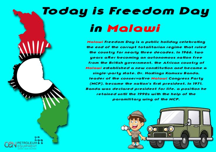 Today we join the celebration for Freedom Day in Malawi!🇲🇼️🎉