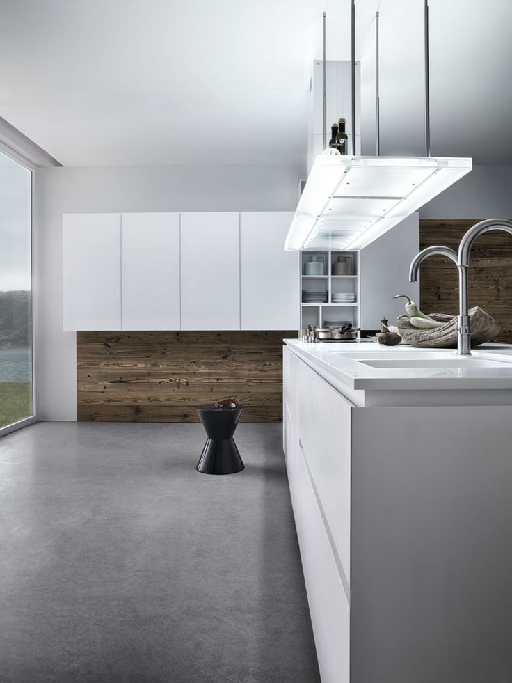 Lacquered Kitchen With Island Without Handles CLOE   COMPOSITION 1 By Cesar  Arredamenti Design Gian Vittorio Plazzogna
