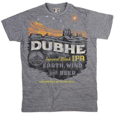 Men's Uinta Dubhe T-Shirt | Uinta Brewing Tee | Vintage Beer TShirts | PalmerCash