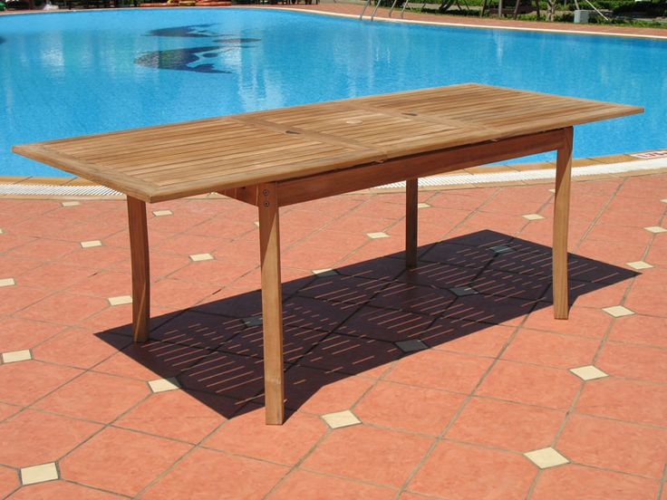 Santorini Premium Teak Extendable Patio Dining Table (Lazy Susan Sold  Separately) - 81 Best Images About Patio Furniture On Pinterest Dining Sets