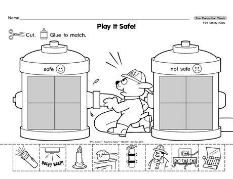 Fire safety worksheets pdf