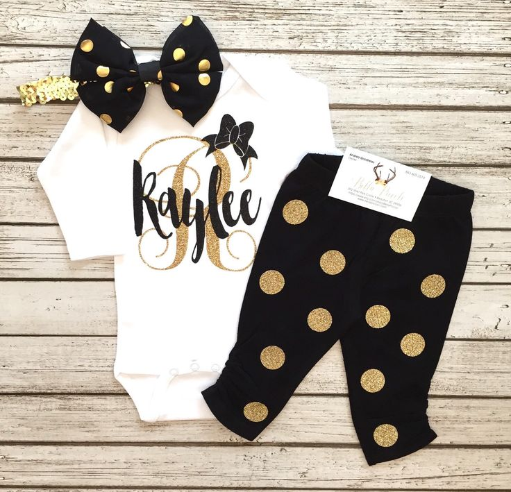 A personal favorite from my Etsy shop https://www.etsy.com/listing/463640818/baby-girl-bodysuit-personalized-bodysuit