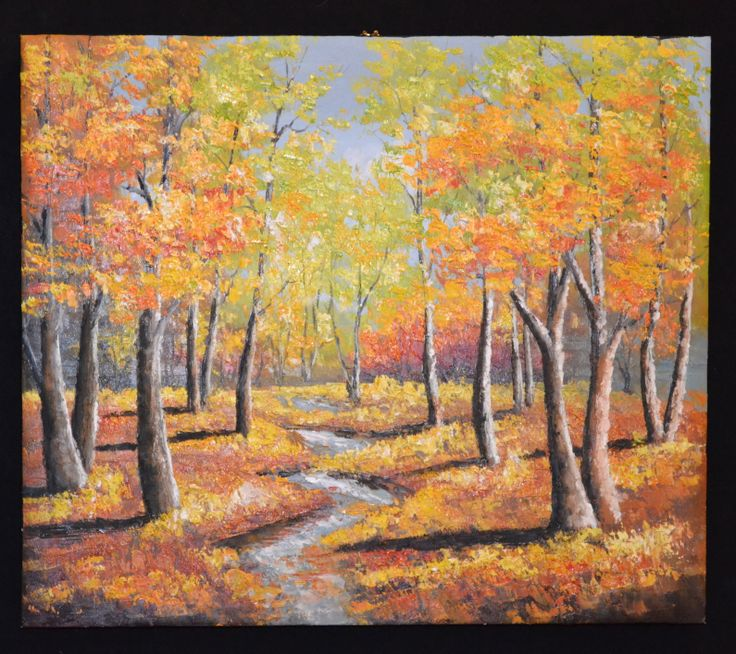 """James Picard - Fall Landscape. Oil on Canvas. 24.75"""" x 21.25"""