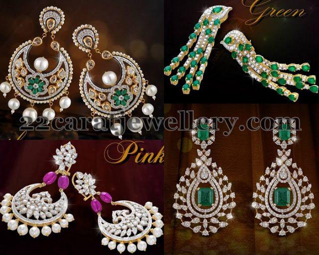 Jewellery Designs: Opulent Diamond Earrings by Shobha Asar