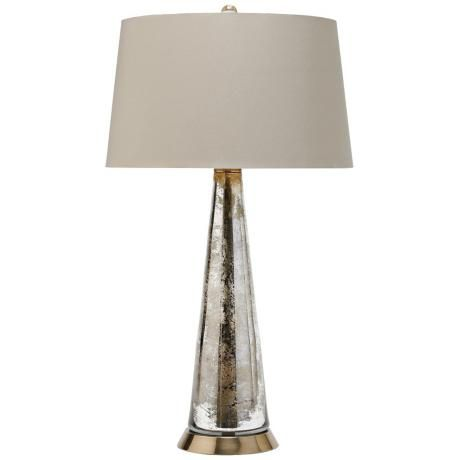 Arteriors Home Antiqued Silver Tapered Glass Table Lamp $444.91