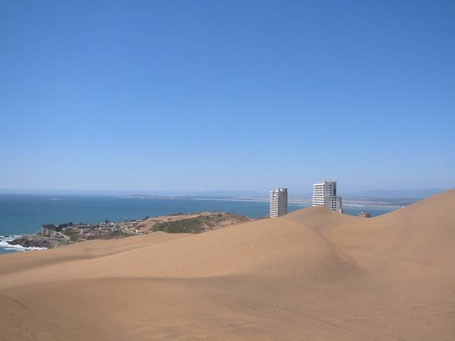 Sand dunes close to Vina del Mar, #Chile