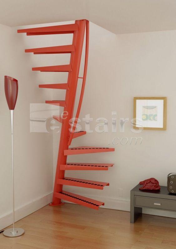 1m2 escalier gain de place en colima on eestairs escalier pinterest lieux et mezzanine - Poser un escalier en colimacon ...