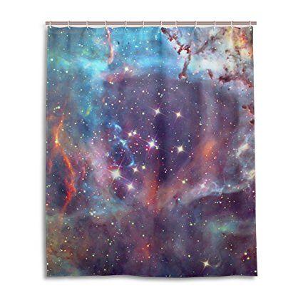 Bad Vorhang Für Die Dusche 152,4 X 182,9 Cm, Galaxy Space