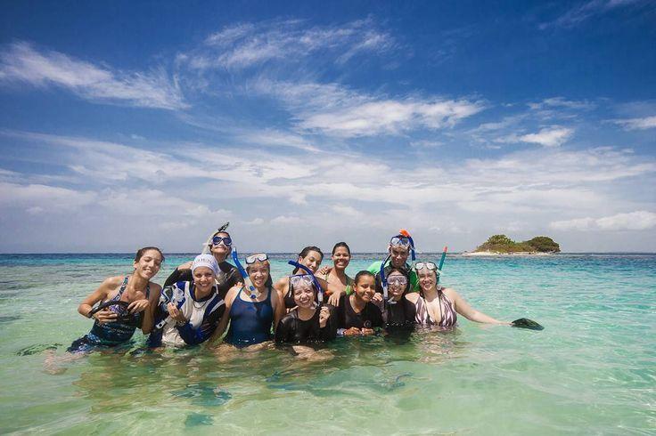 """Este #tbt viene con esas ganas de estar en el mar haciendo lo que más nos gusta.  Bueno bañarnos en las cálidas aguas caribeñas y tomar sol es lo segundo que más nos gusta porque lo  para nosotros es enseñar. En esta ocasión estábamos de campo en el curso """"Biología y Conservación de Tortugas Marinas en Zonas de Alimentación y Reproducción"""" hace ya cinco años.  Esas caras de alegría no son pura pose: logramos nadar con tortugas marinas en Cayo Norte cerquita de Tucacas (estado Falcón). Qué…"""