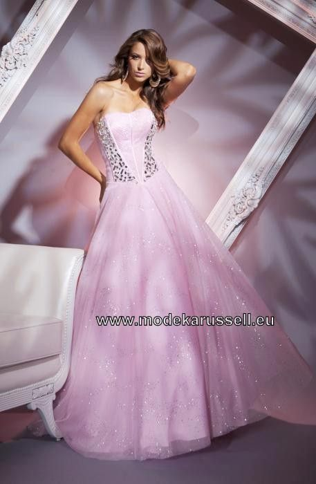 A Linie Abendkleid in Rosa Bodenlang