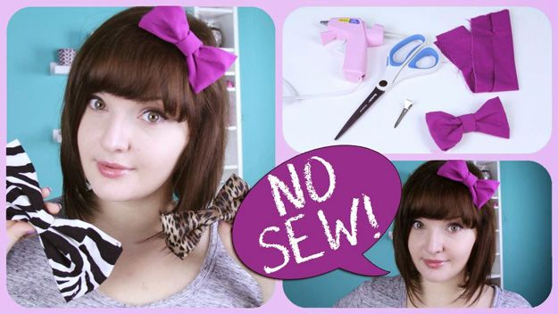 No Sew Bow | Crafts and Sewing Projects Ideas by DIY Ready at http://diyready.com/diy-fabric-crafts/