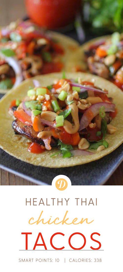 Healthy Thai Chicken Tacos