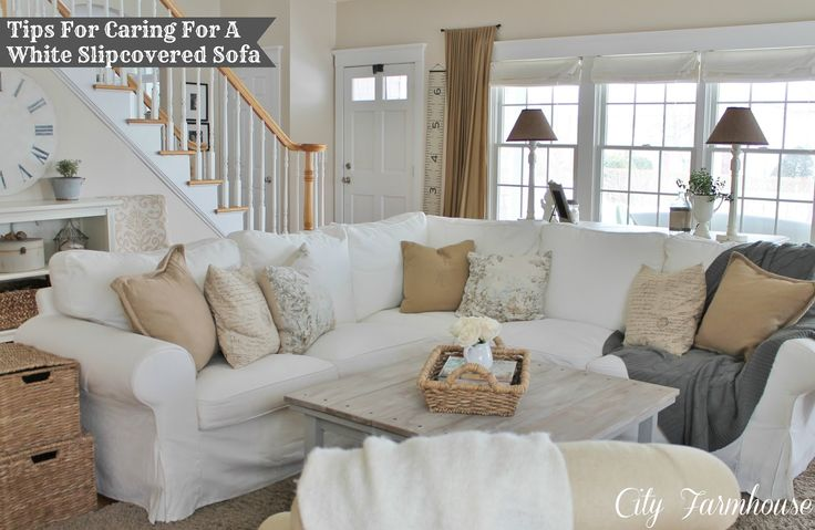 City Farmhouse: Real Life With A White Slipcover & Keeping It Pretty
