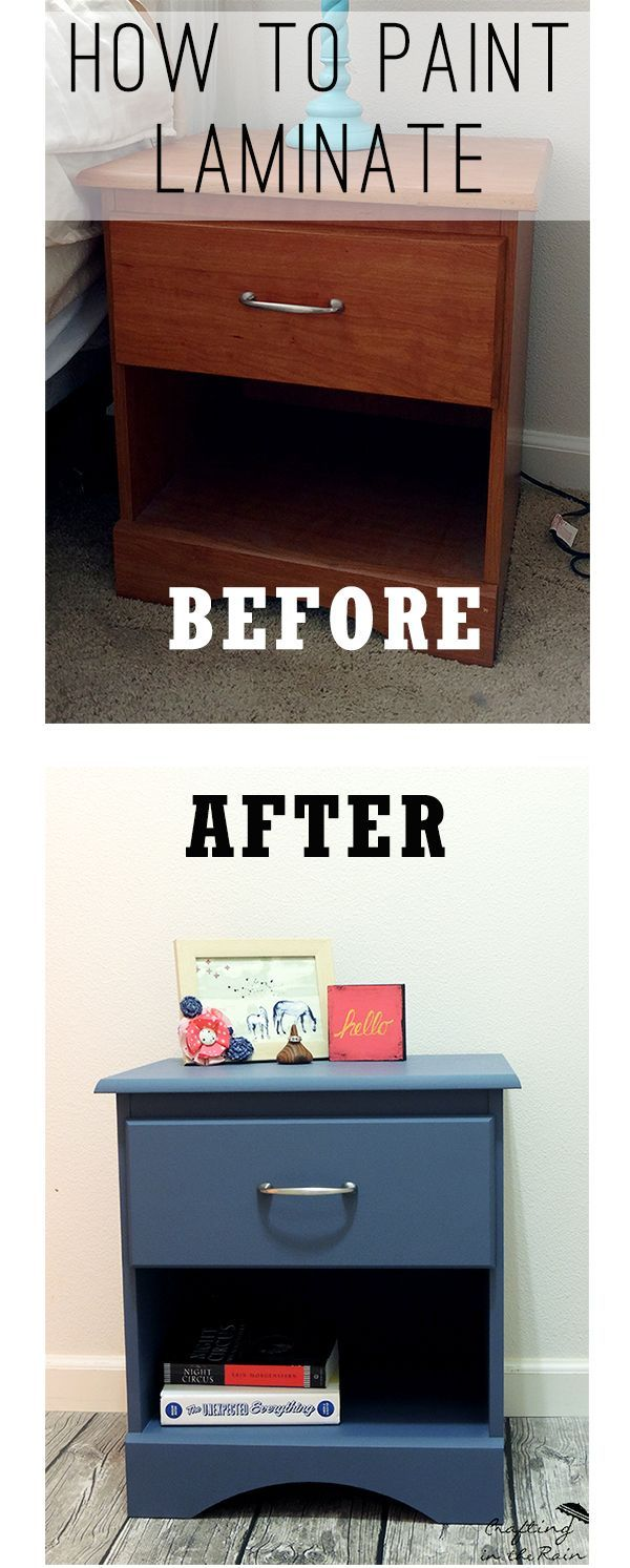 How to Paint a Laminate Nightstand