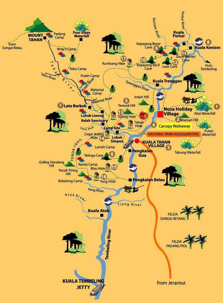 Map Taman Negara - Click to enlarge