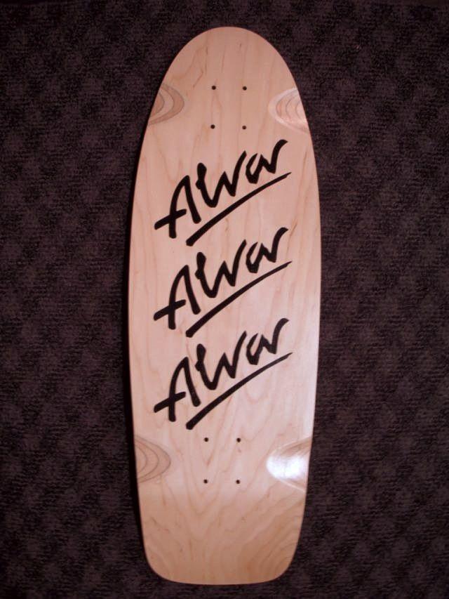 Alva skates triple logo