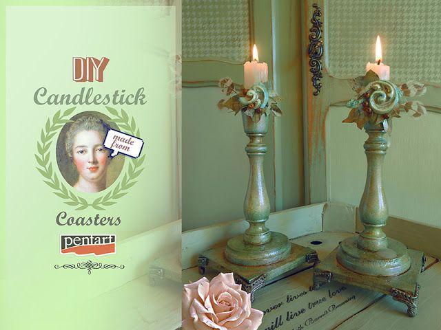 #diy #candlestick #pentart
