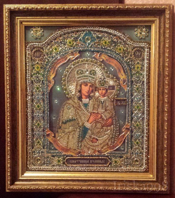 Споручница грешных от Образа в каменьях, фото без вспышки, двойной деревянный багет, музейное...