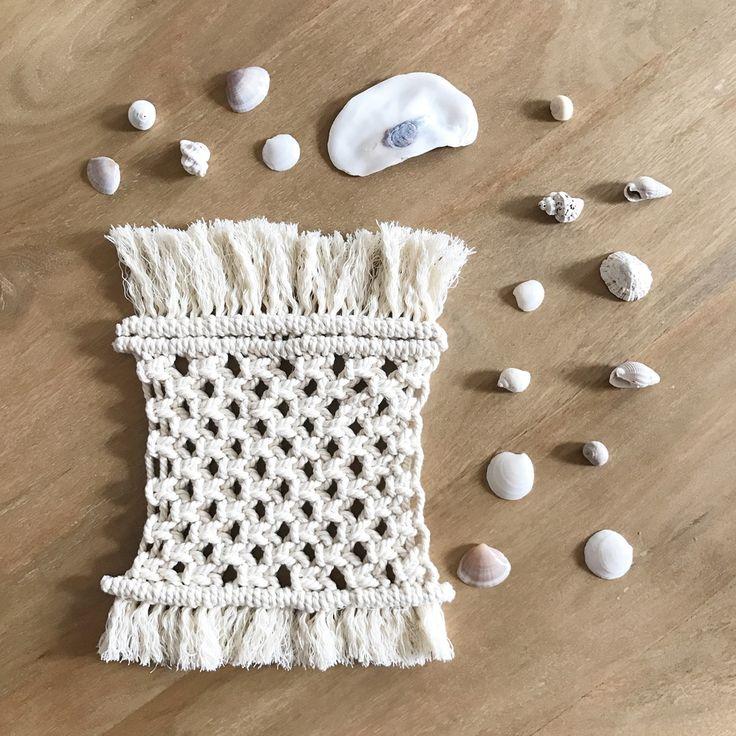 Dessous de tasse en macramé, décoration bohème