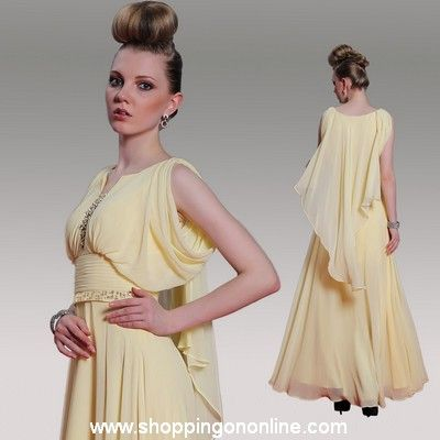 Light Yellow Prom Dress - Ruffles Ribbon $180.80 (was $226) Click here to see more details http://shoppingononline.com/prom-dresses/light-yellow-prom-dress-ruffles-ribbon.html #LightYellowPromDress #YellowPromDress #YellowDress #PromDresses