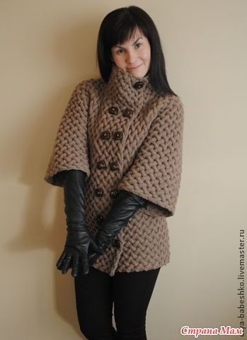 Brown coat - Knitting - Paese Mamma