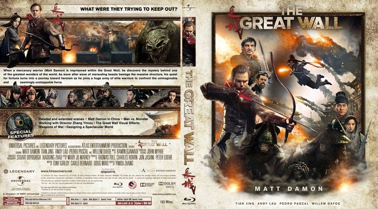 The Great Wall (2016) Blu-ray Custom Cover