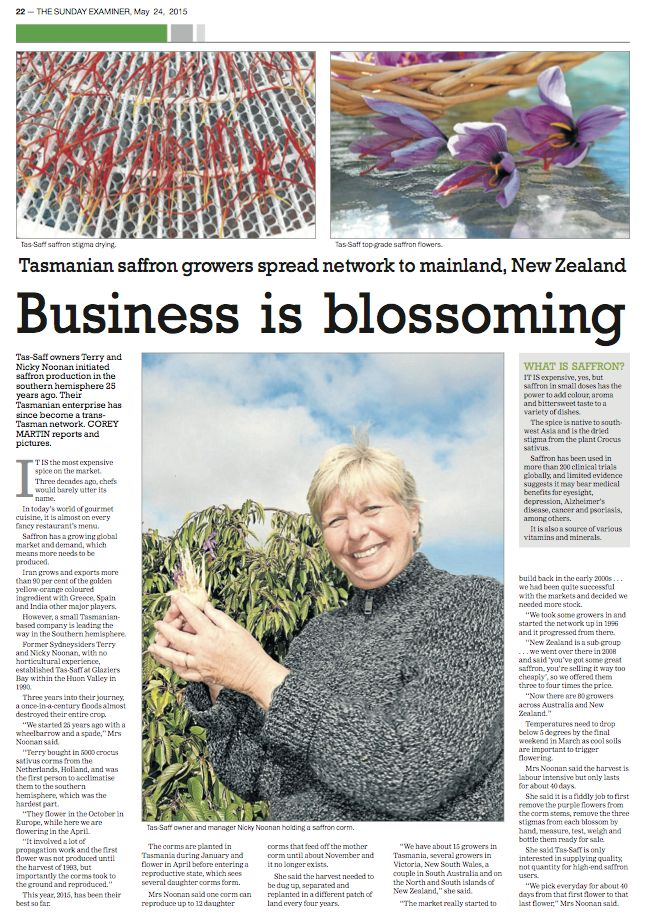 Great support from Tasmanian media. -  #McKenziesFoods#TasSaff#Tasmania