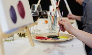 Groupon - BYOB Painting Party with Cheese, Crackers, and Dessert for One, Two, or Four at The Art Room (Up to 42% Off) in The Art Room. Groupon deal price: $29
