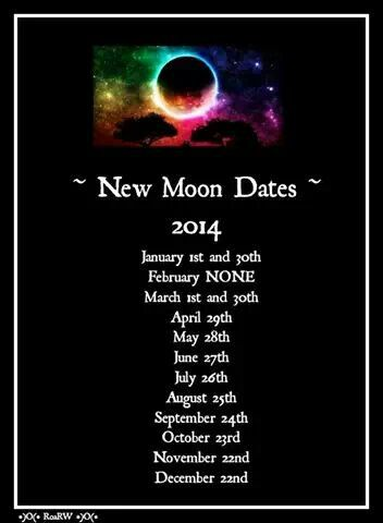 New Moon dates 2014