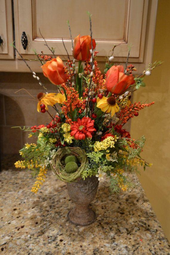 17 best images about home interior silk arrangement ideas for Spring flower arrangement ideas
