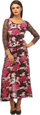 Buy Cottinfab Women's Maxi Dress Online at Best Offer Prices @ Rs. 1,099/- In India. #Maxi #Dresses #India