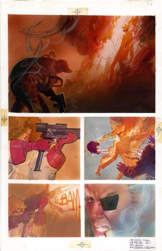 En vente - Elektra Assassin #7 p7 par Bill Sienkiewicz, Frank Miller - Planche originale