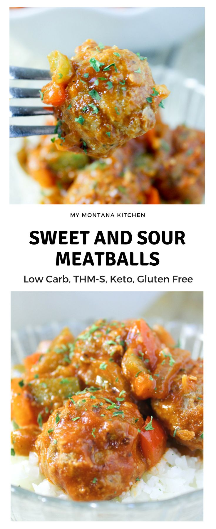 Sweet and Sour Meatballs (THM-S, Low Carb) #trimhealthymama #thm #thms #lowcarb #keto #sweetandsour #meatballs #glutenfree #sugarfree #dairyfree