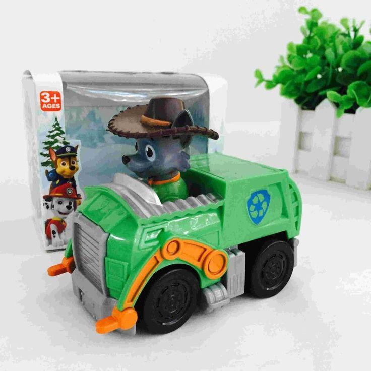 Hot 2016 Kid Car Toys Puppy Patrol dog action figure Patrulla Canina Toys anime with Vehicle Car Spain Patrol Canine