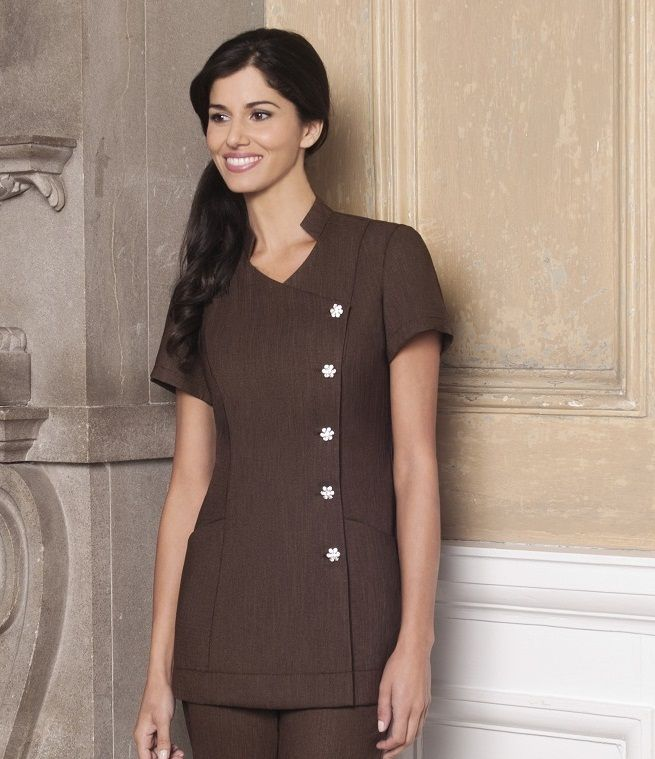 Lili Beauty Tunic | Shop Beauty Uniforms at Diamond Designs
