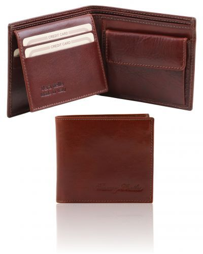 TL141377 Exclusive 3 fold leather wallet for men